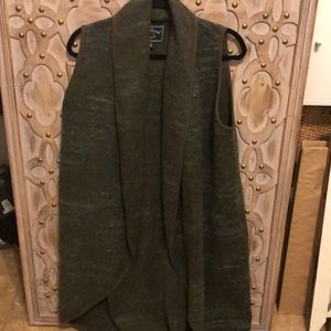 Lucky Brand Duster Long Vest L/XL